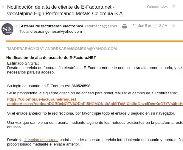 20200605 phishing supuesto usuario efactura pide datos
