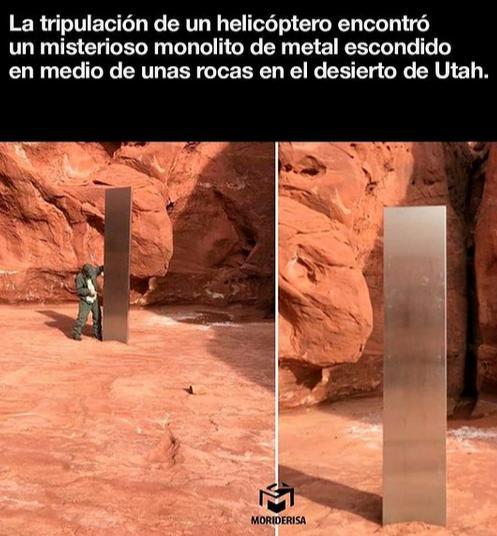 20201124 misterioso monolito descubierto en desierto en utah
