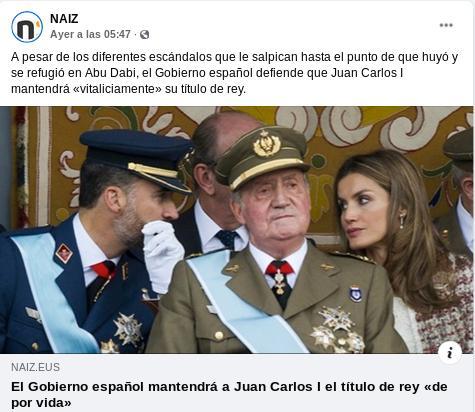 20210113 juan carlos prófugo sigue siendo rey de espana