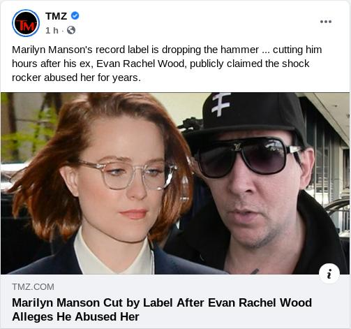 20210201 evan rachel woods exnovía de marilyn manson asegura que fue abusada por el rockero