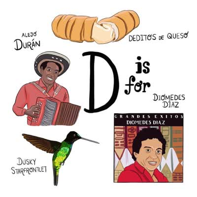 abecedario colombiano d es de diomedes dias alejo duran deditos de queso