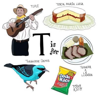 abecedario colombiano t de tamal ternera a la llañera tiple torta maria luisa todo rico