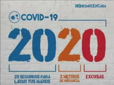 ano 2020 ano del covid lavado de manos distanciamiento social y sin excusas
