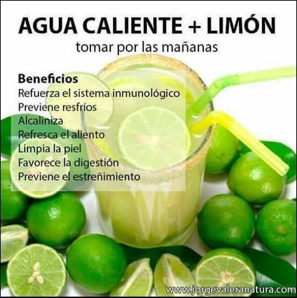 beneficios del agua de limon caliente