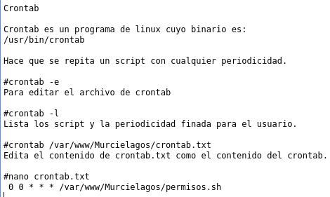 comandos de terminal linux crontab fija tareas segun horario