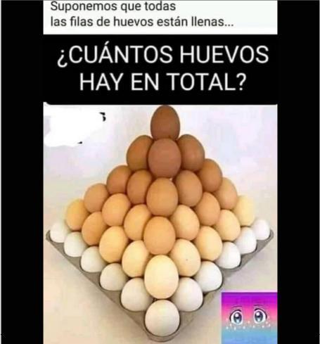 cuantos huevos hay en esta piramide