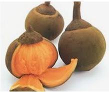 fruto tropical cuyo interior es de un naranja intenso