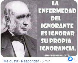 la ignorancia se ignora a si misma