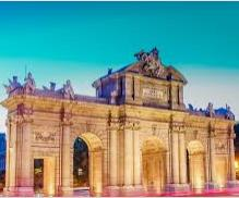 la puerta de alcala es la mas célebre de las antiguas entradas reales de madrid espana