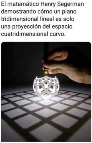 plano tridimensional curvo es una representación de un plano lineal