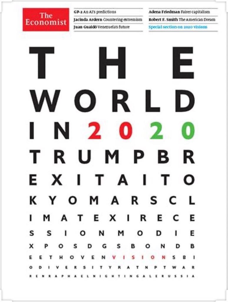 portada the economist predicciones 2020