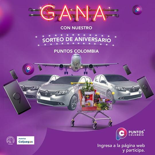 puntos colombia sorteos premios