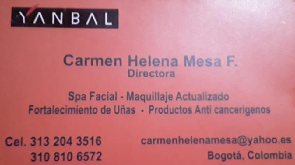 spa facial maquillaje actualizado fortalecimiento de unas productos anticancerígenos yanbal carmen helena mesa