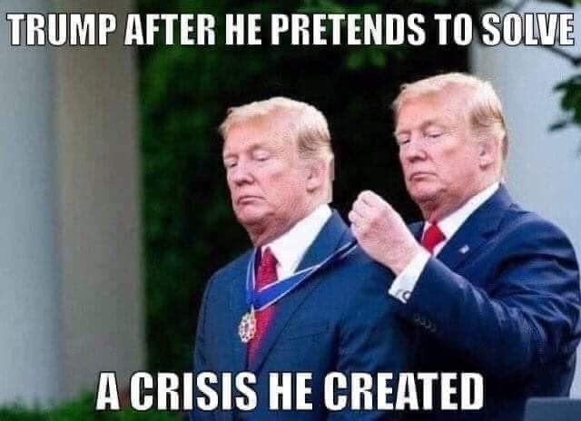 trump despues de solucionar la crisis que el creo