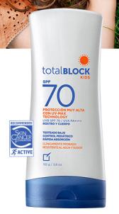 bloqueador solar total block para ninos codigo 334